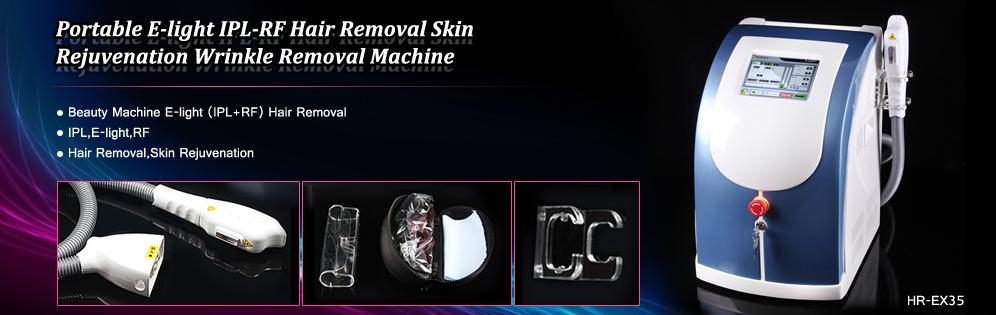 Portable E-light IPL-RF Hair Removal Skin Rejuvenation Wrinkle Removal Machine
