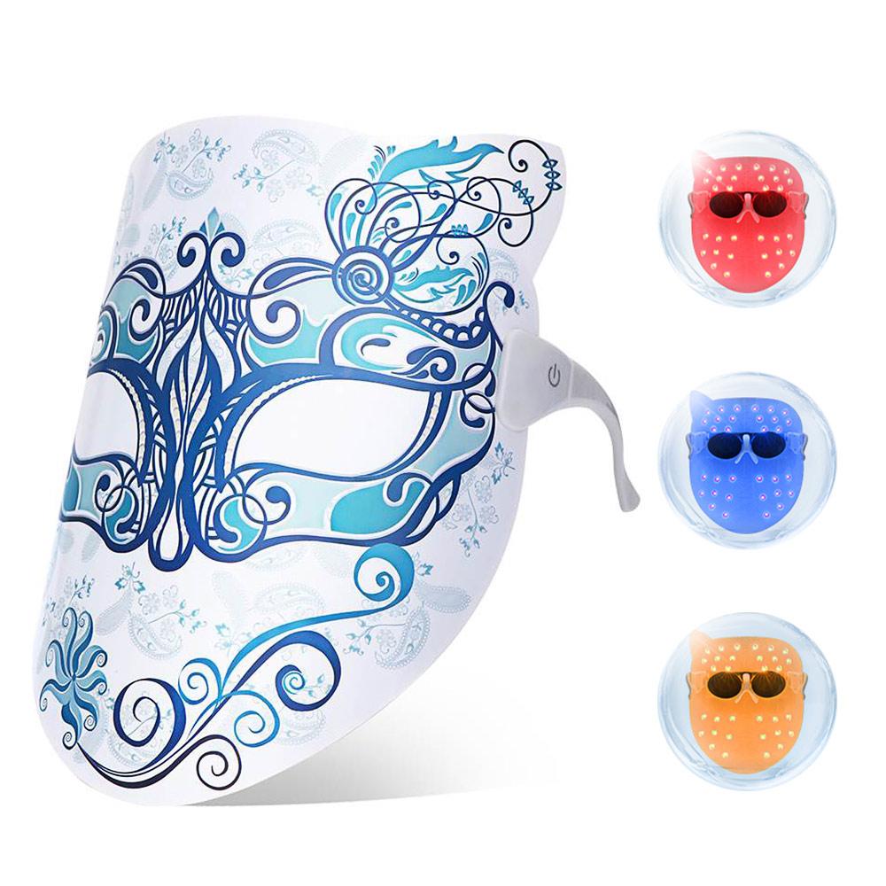 skin rejuvenation led photon therapy face mask wrinkle. Black Bedroom Furniture Sets. Home Design Ideas