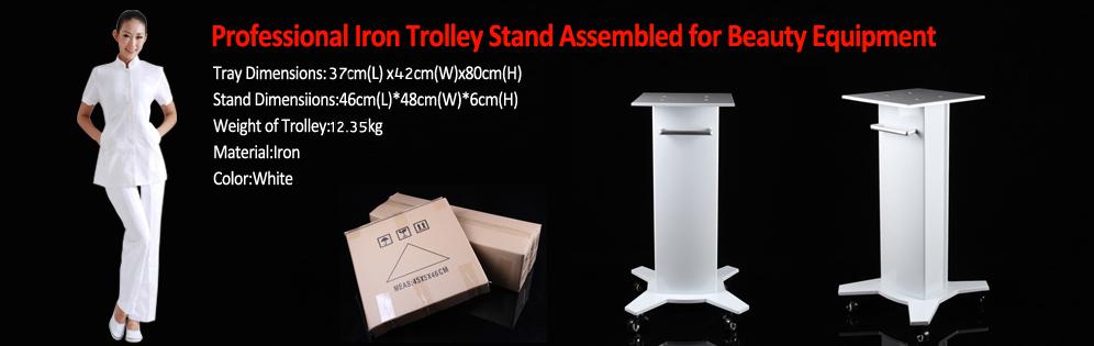 Pro Iron Trolley Stand Assembled For Ultrasonic Cavitation RF Beauty Machines