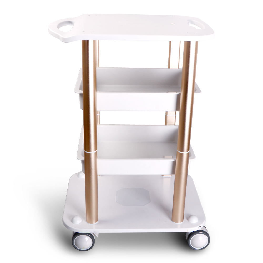 Abs aluminum beauty salon trolley cart spa assembled shelf for Salon trolley
