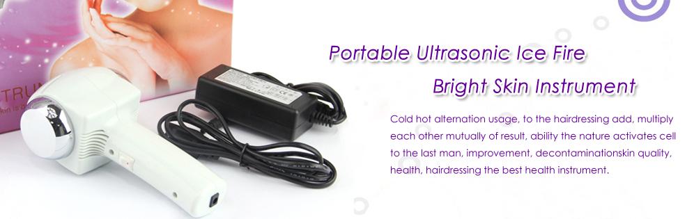 Portable Ice Fire Bright Skin Ultrasonic Instrument Hot&Cold Hammer Rejuvenation
