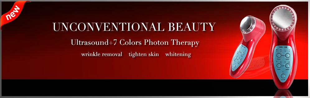 LED Photon 3MHz Ultrasound Anti Aging Beauty Salon Spa Facial Firming Lifting