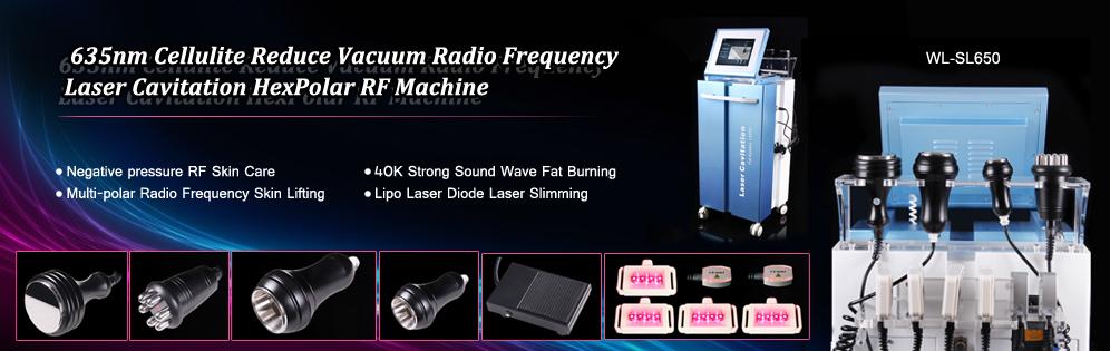 635nm LED Lipolysis Vacuum RF  Laser Cavitation Slim