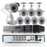 8ch hdmi dvr 1080n 1000tvl ip66 cmos ir-cut cctv outdoor secutiry camera system
