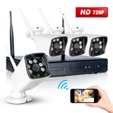 4ch 1280*720p ip network 4x cctv outdoor night home security wireless nvr system