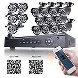 16ch h.264 security dvr+16pcs 720p 24 ir-leds cmos 3.6mm lens ir-cut cctv camera
