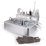 8 in 1 diamond dermabrasion ultrasonic microcurrent hot cold hammer spot removal