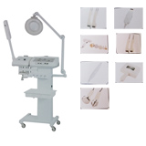 9in1 ultrasonic scrubber bio skin-lifting ozone facial steamer woods lamp device